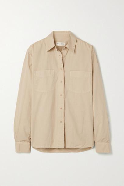 Nili Lotan - Kelsey Cotton-poplin Shirt - Beige