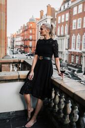 fashionjackson,blogger,dress,belt,black dress,gucci belt