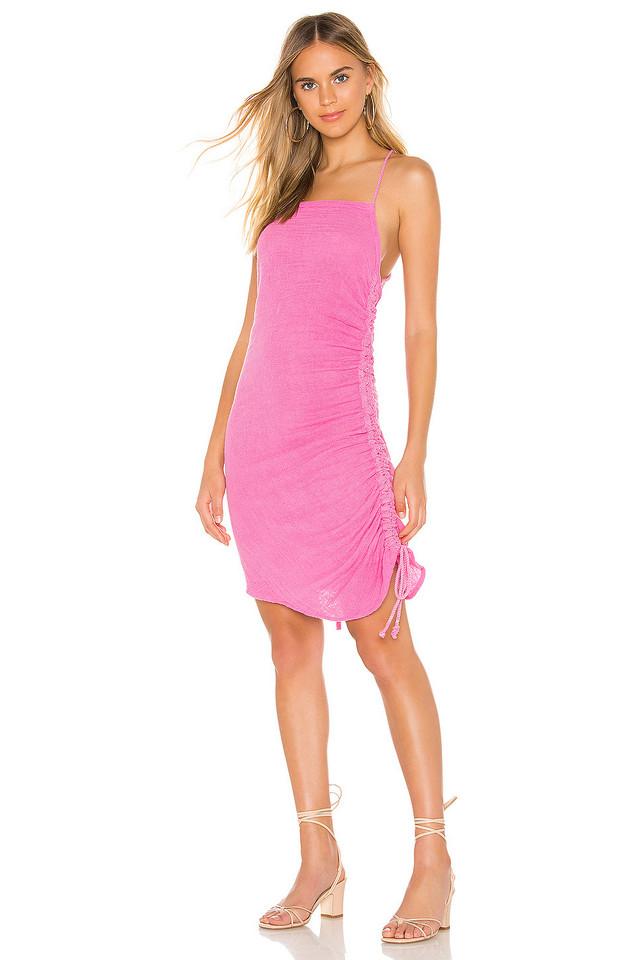 Jen's Pirate Booty Crossings Mini Dress in pink