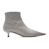 glitter,ankle boots,silver,silver glitter,shoes