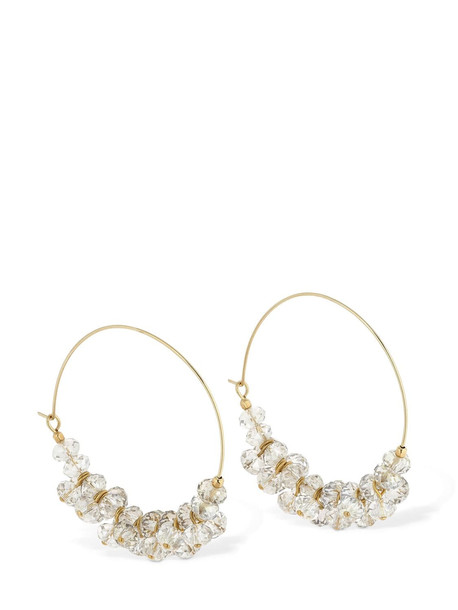 ISABEL MARANT Beaded Hoop Earrings in transparent