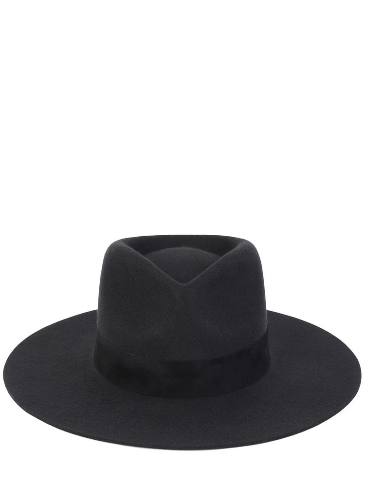 LACK OF COLOR Mirage Australian Wool Fedora Hat in black