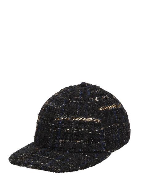 MAISON MICHEL Hailey Tweed Hat in black
