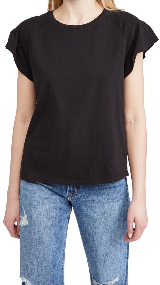 Joe's Jeans Trudie Raglan Flutter Tee in black