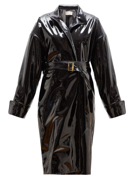 Alexandre Vauthier - Patent Leather Belted Jacket - Womens - Black
