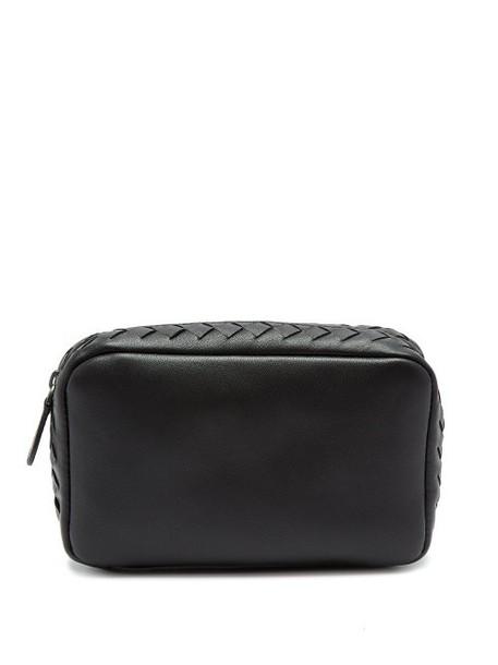 Bottega Veneta - Intrecciato Leather Make Up Bag - Womens - Black