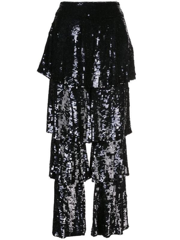 Osman Felix sequin trousers in black