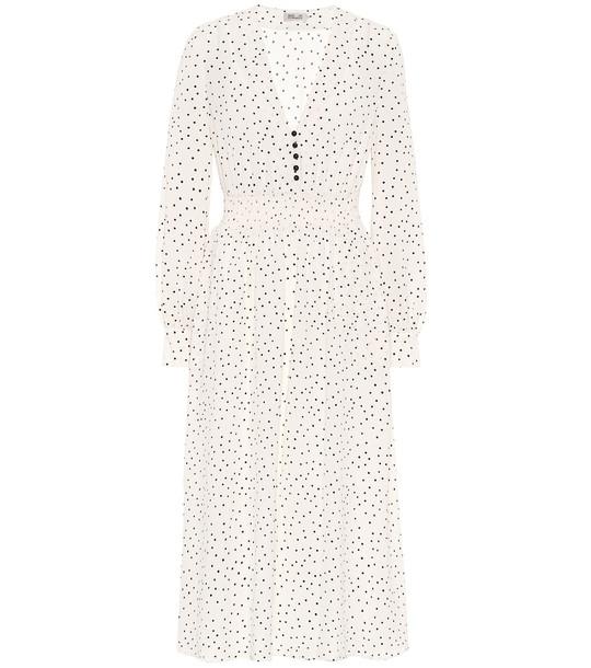 Baum und Pferdgarten Adison polka-dot midi dress in neutrals