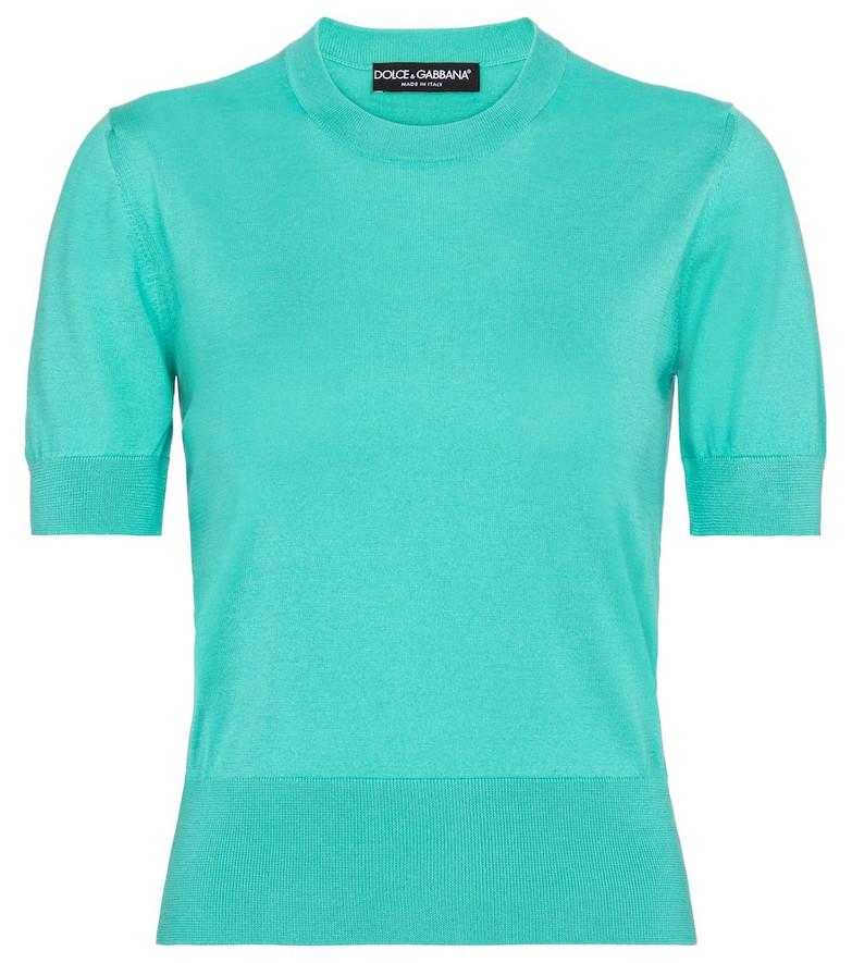Dolce & Gabbana Silk sweater in blue