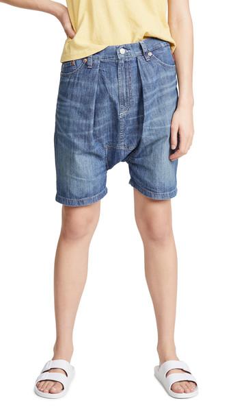 Denimist Carpenter Drop Shorts in indigo
