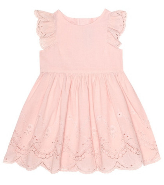 Tartine et Chocolat Broderie anglaise cotton dress in pink