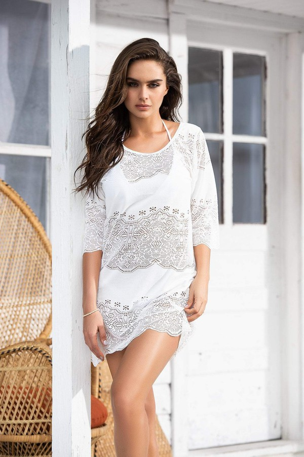 dress ivory dress white dress cover up beach dress