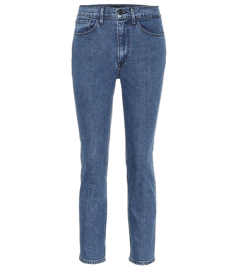 3x1 W4 high-rise skinny jeans in blue