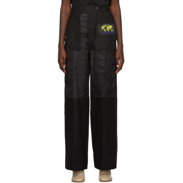MM6 Maison Margiela Black Inside-Out Dress Trousers