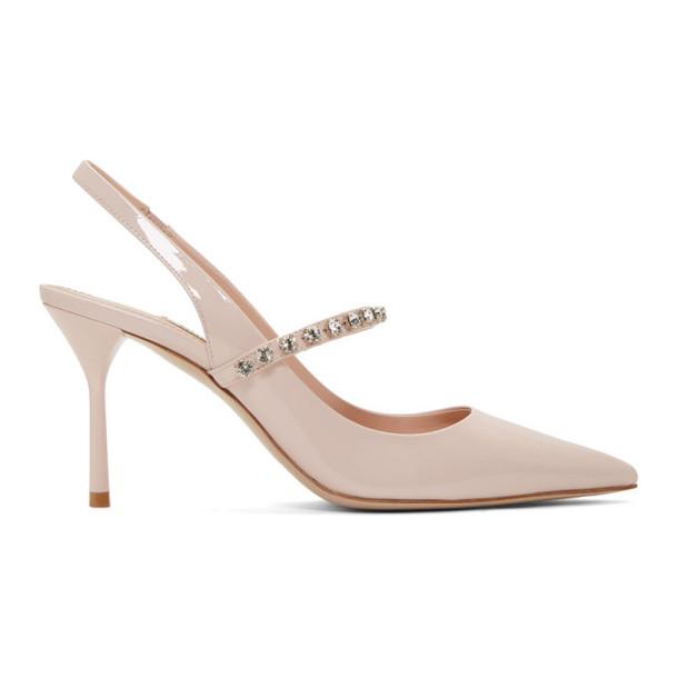 Miu Miu Pink Patent Slingback Heels