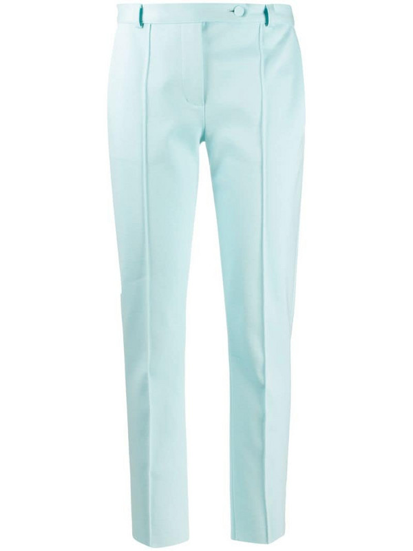 Styland organic cotton tailored trousers in blue