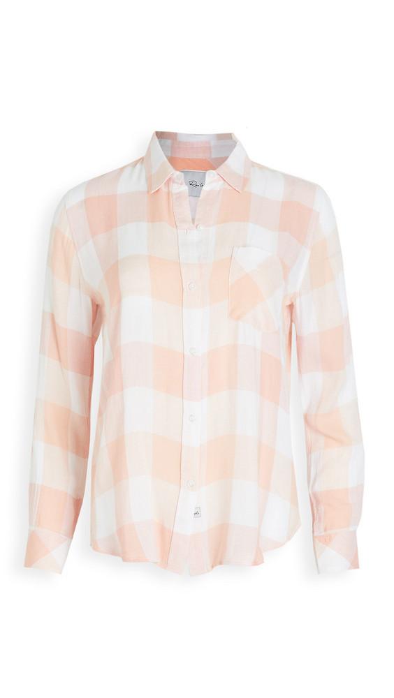 RAILS Charli Button Down Shirt in peach