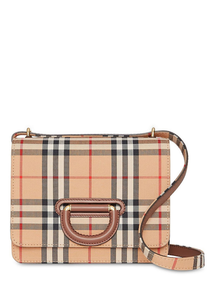 BURBERRY Small D-ring Shoulder Bag in beige