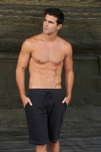 shorts mens sweat sauvage activewear black bikiniluxe