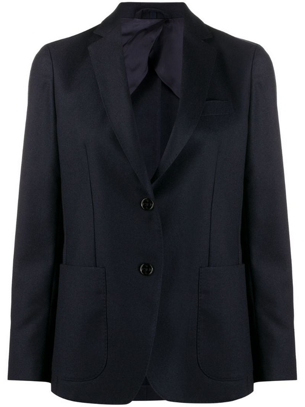 Fay fitted single-breasted blazer in blue