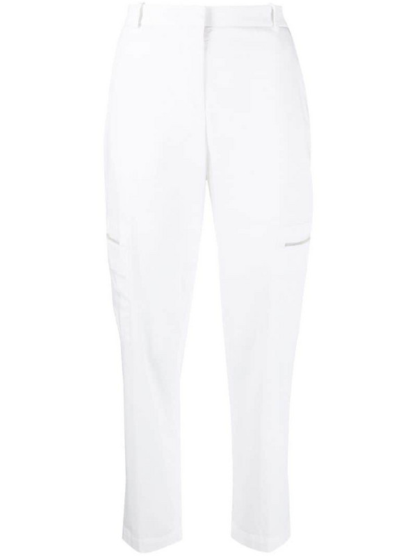 Fabiana Filippi high-waisted zip-pocket trousers in white