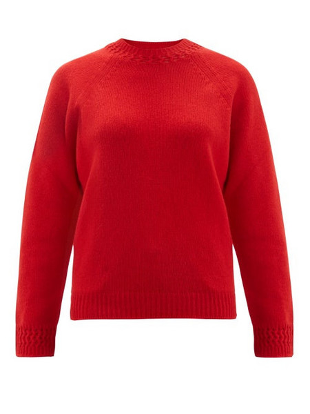 A.P.C. A.p.c. - Janet Wool Blend Sweater - Womens - Red