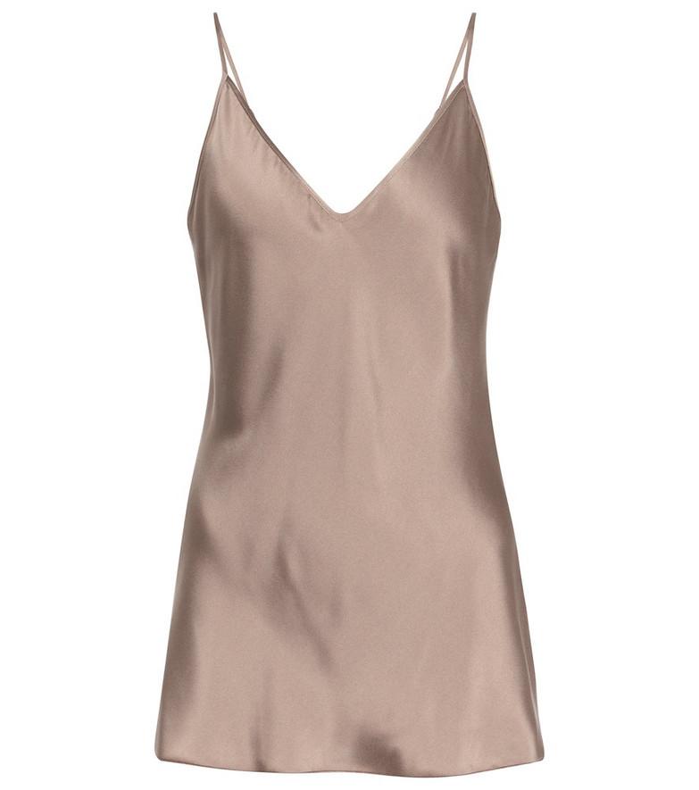 Max Mara Leisure Lucca silk-blend camisole in brown