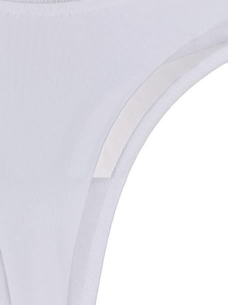 Maison Close high hip thong in white
