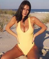 swimwear,yellow swimwear