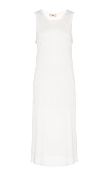 N°21 Elena Sleeveless Jersey Dress in white