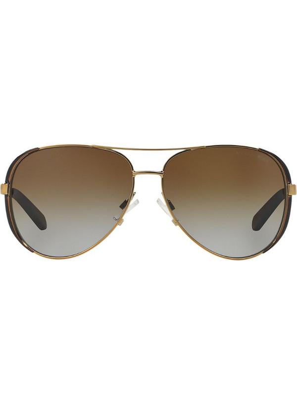 Michael Kors aviator shaped sunglasses in gold