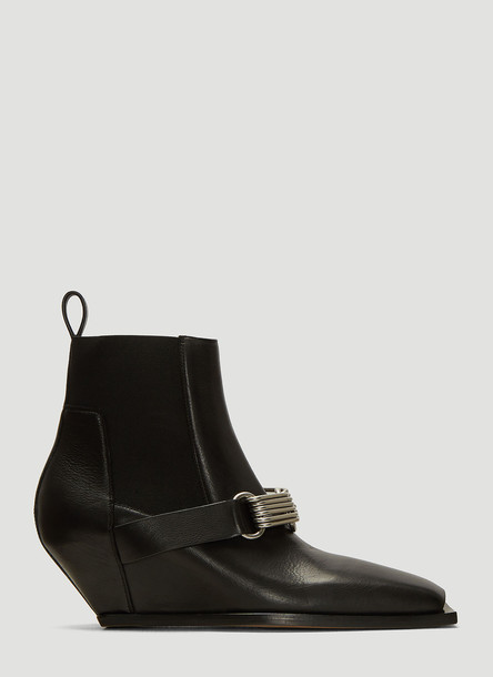 Rick Owens Stivali Ankle Boots in Black size EU - 36