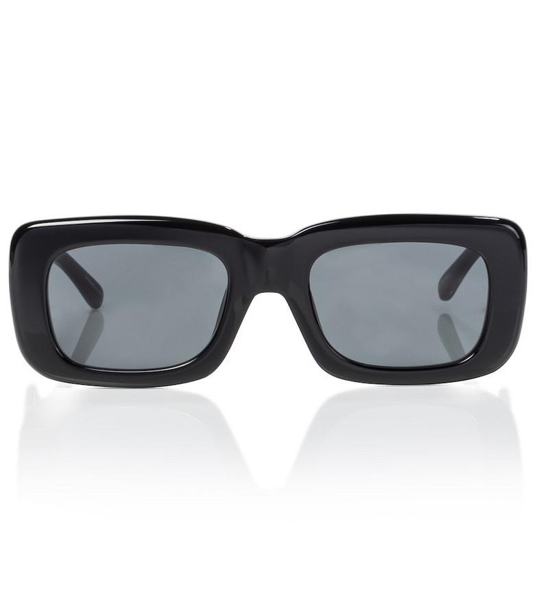 The Attico x Linda Farrow Marfa rectangular sunglasses in black