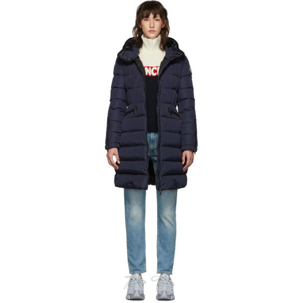 Moncler Navy Down Betulong Hooded Coat