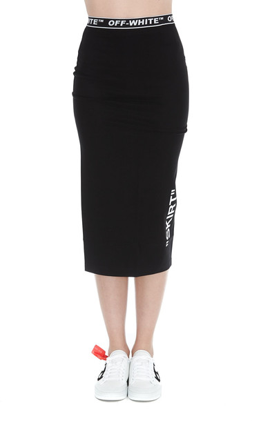 Off-white Pencil Skirt in black