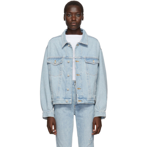 Agolde Blue Denim Charli Jacket