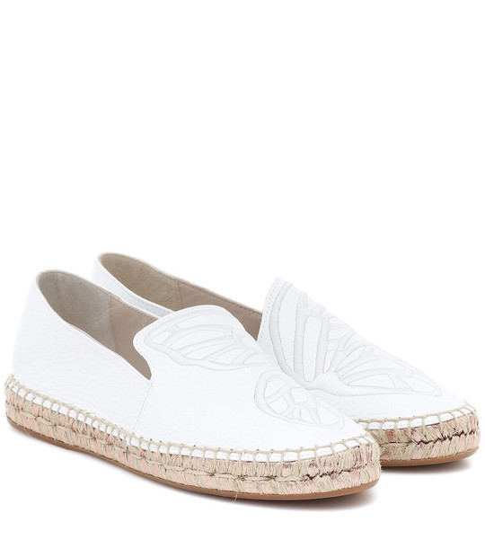 Sophia Webster Butterfly leather espadrilles in white