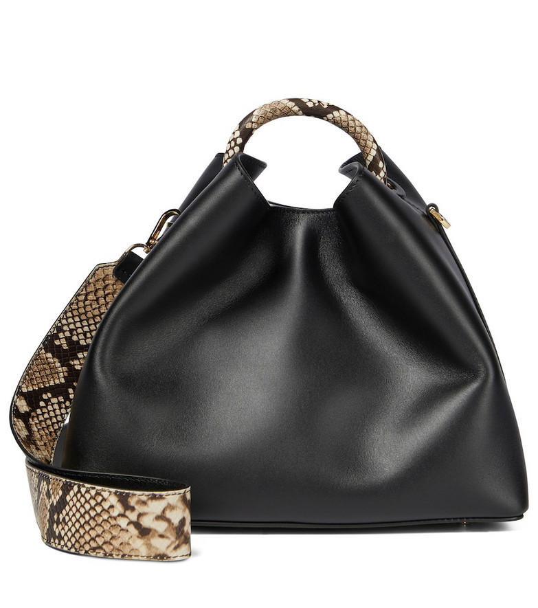 Elleme Raisin leather shoulder bag in black