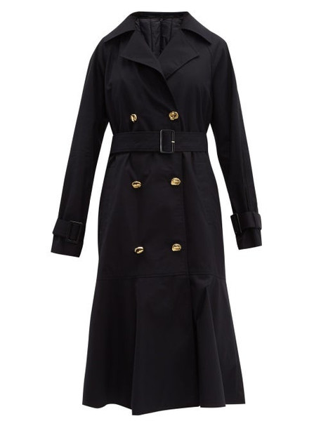 Tibi - Double Breasted Cotton Trench Coat - Womens - Navy