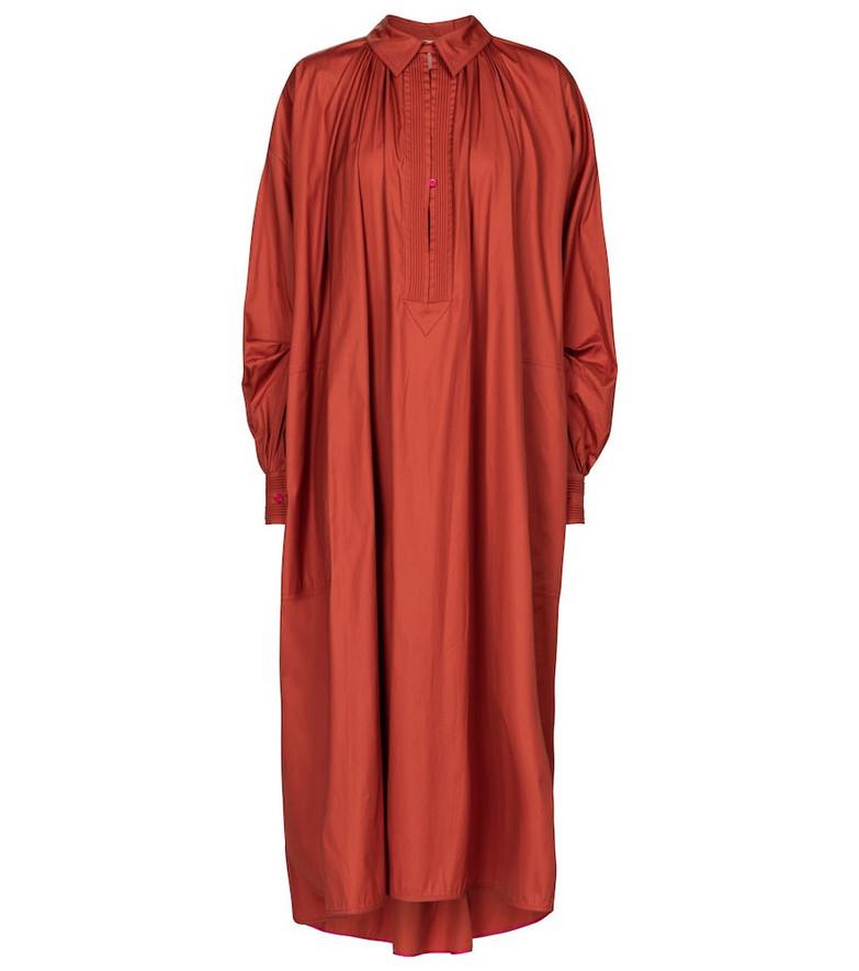 Roksanda Adela cotton poplin midi dress in red