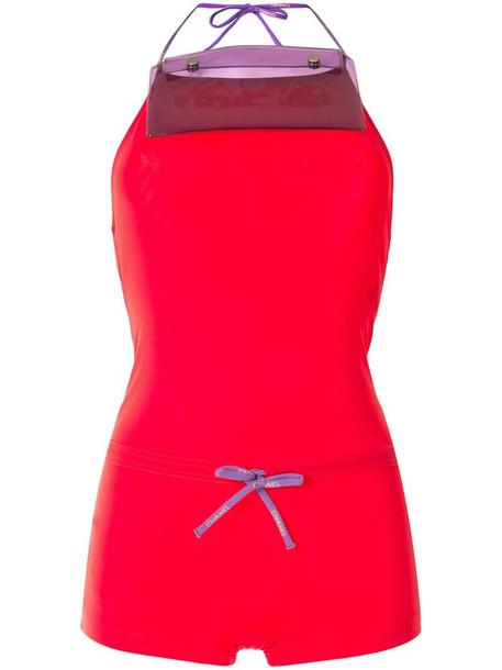 Chanel Pre-Owned drawstring open back swimwear in red
