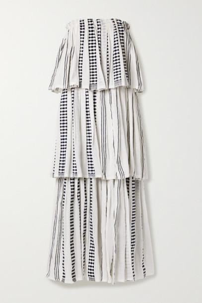 LemLem - Tigist Tiered Cotton-blend Gauze Maxi Dress - White