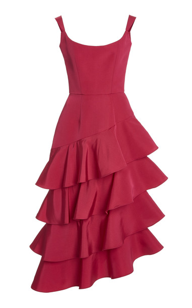 Markarian La Danse Tiered Corset Dress in pink