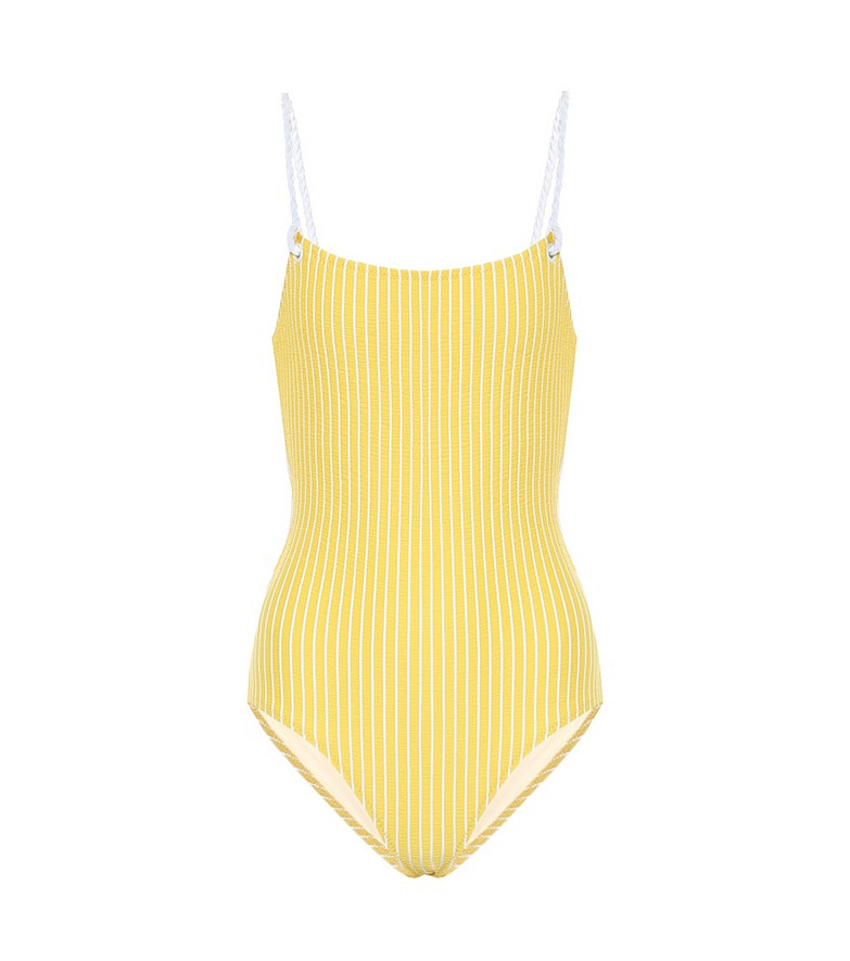 Solid & Striped The Nina striped swimsuit in yellow