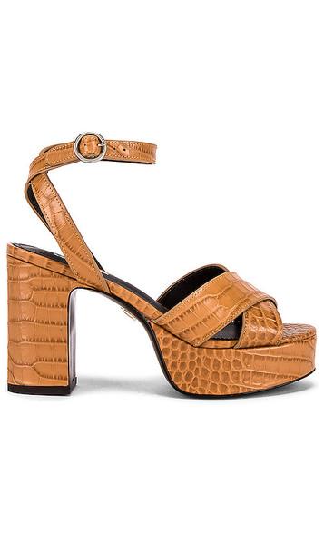 Lola Cruz Crion Platform Sandal in Tan