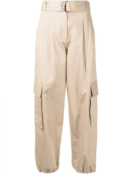 Lee Mathews tapered cargo trousers in brown
