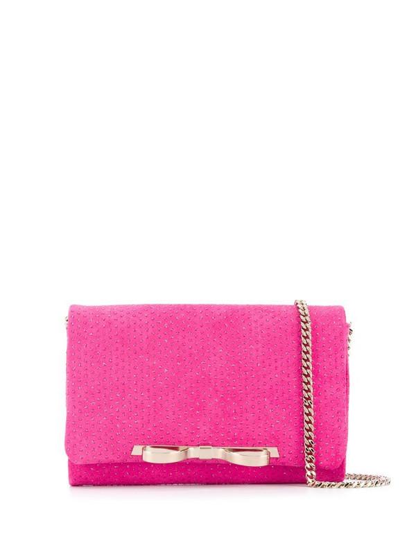 RedValentino RED(V) Sandie rhinestone-embellished shoulder bag in pink