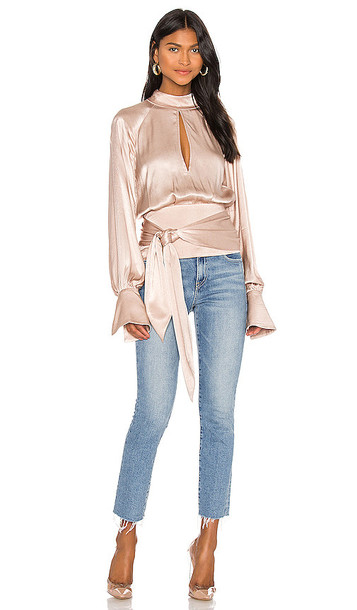 L'Academie The Pomeline Top in Taupe