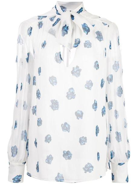 Jason Wu rose print blouse in blue