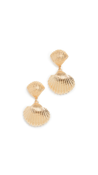 Aurelie Bidermann Shell earrings in gold